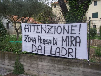 cartello ladri