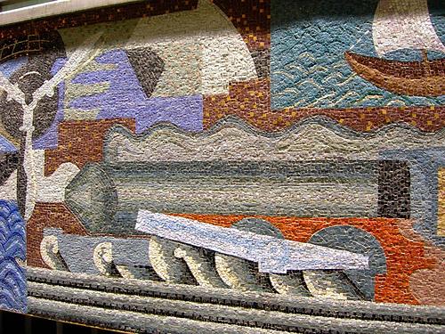 mosaico severini, palazzo poste