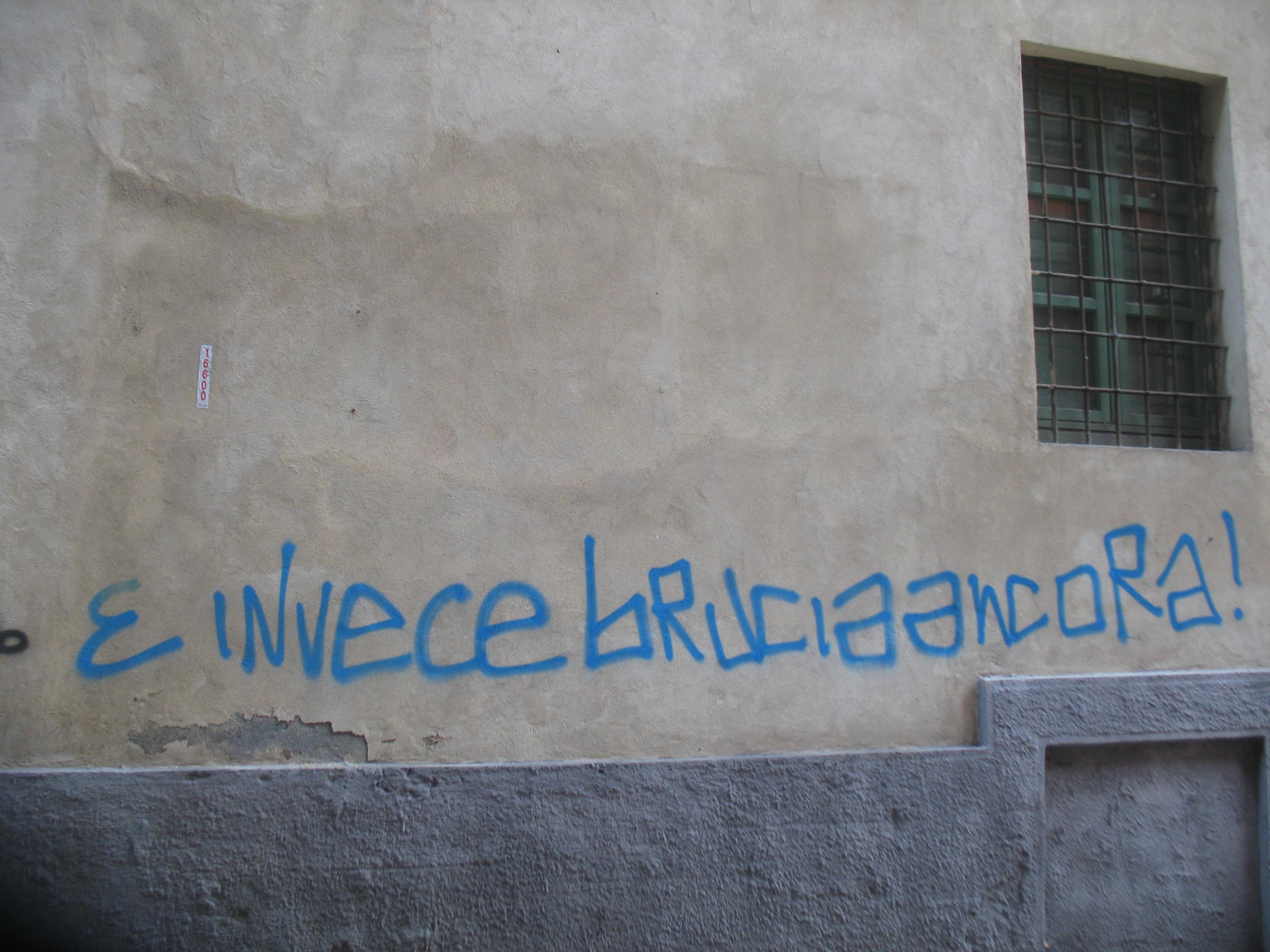 scritta su muro, cisl