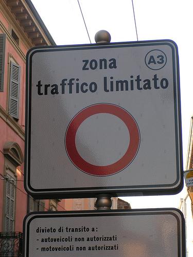 ztl, zona traffico limitato