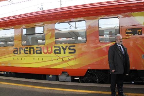 arenaways treno carrozza vagone ferrovia