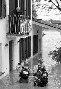 alluvione veneto, lega nord, raccolta fondi