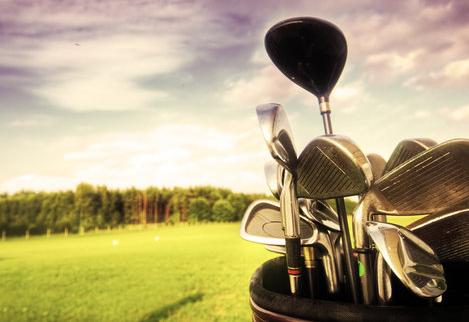 golf, mazze, ferri, campo