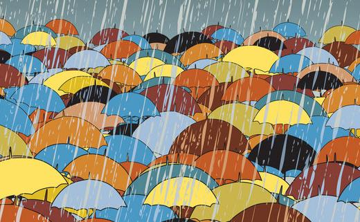 meteo, pioggia, temporale, ombrelli