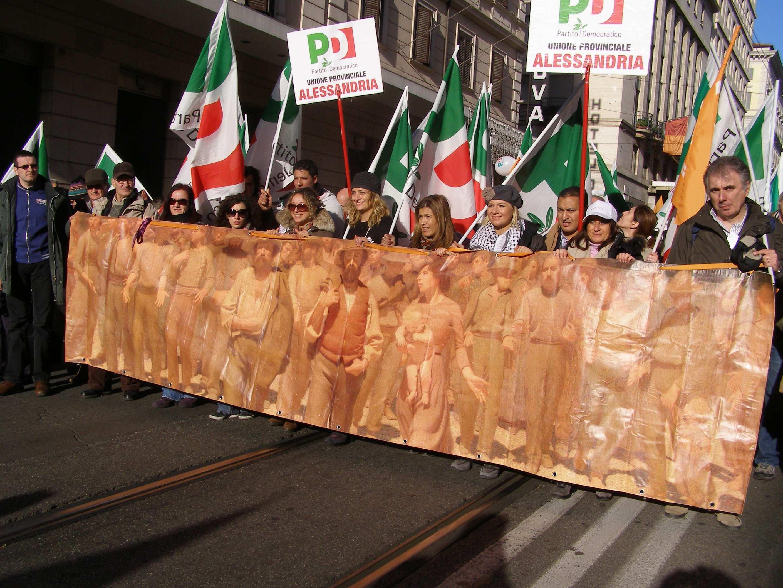 pd, manifestazione a roma