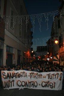 manifestazione migranti, rete per la casa, protesta
