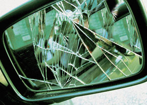 specchietto retrovisore, auto, danno