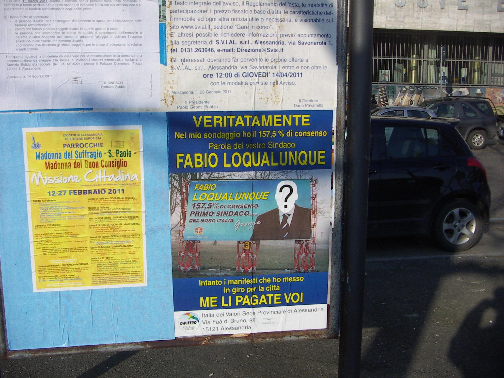 manifesto, piercarlo fabbio, italia dei valori