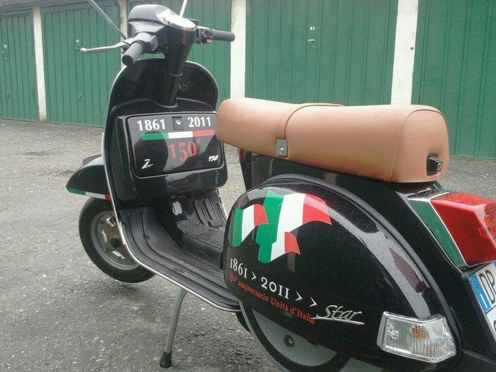 Vespa tricolore, alessandria, 17 marzo