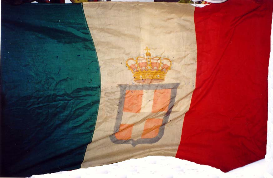 bandiera tricolore monarchia savoia