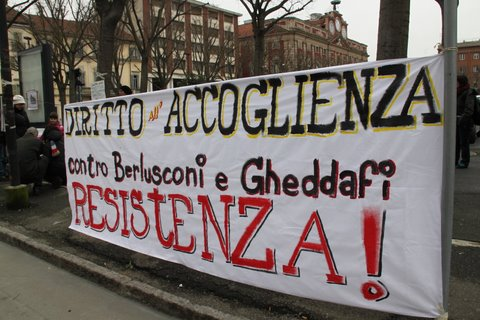 resistenza protesta sit in gheddafi immigrazione