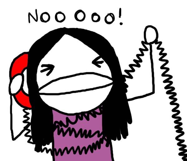 telemarketing, telefono, sondaggio, no