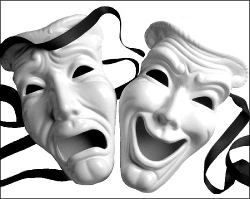 maschere teatro tragedia commedia