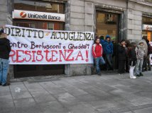 unicredit- protesta crocevia