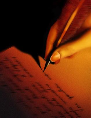 poesia scrittura lettera firma