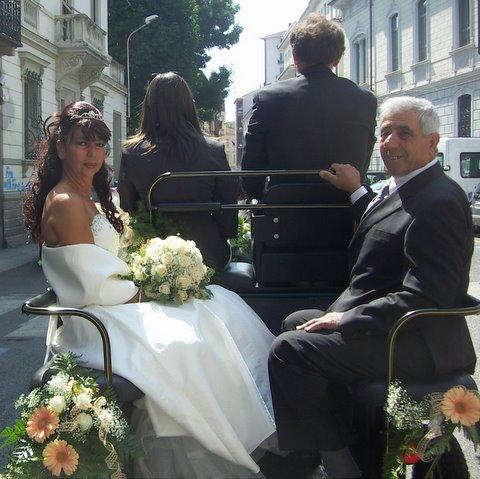 sposa calesse matrimonio