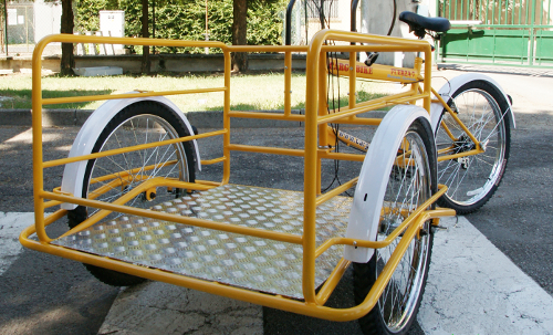 cargo bike amiu carretto