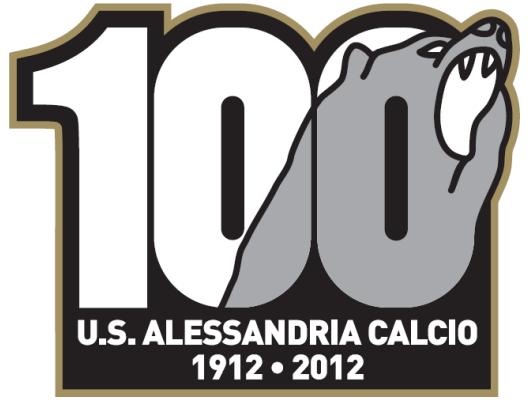 logo 100, alessandria calcio, grigi