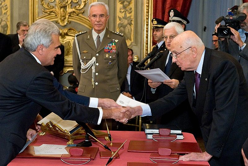 Renato Balduzzi, Giorgio Napolitano