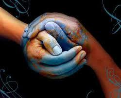 Solidarietà, mani, mondo