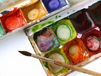 acquerello, pennello, arte, pittura
