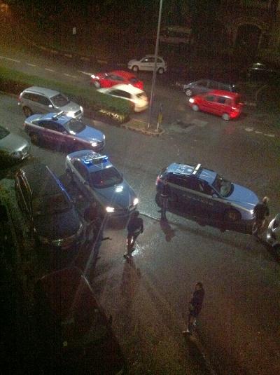 volanti polizia rissa pantere