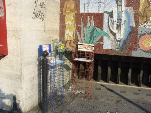 severini, mosaico, vandali