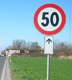 50 km, limite di velocità