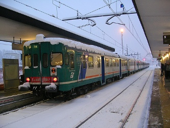 treno, neve