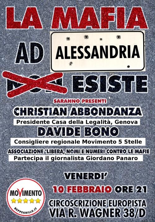 Mafia Alessandria movimento 5 stelle