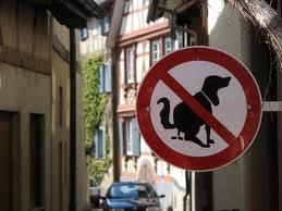 cartello escrementi cani