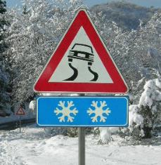 ghiaccio, neve, strada