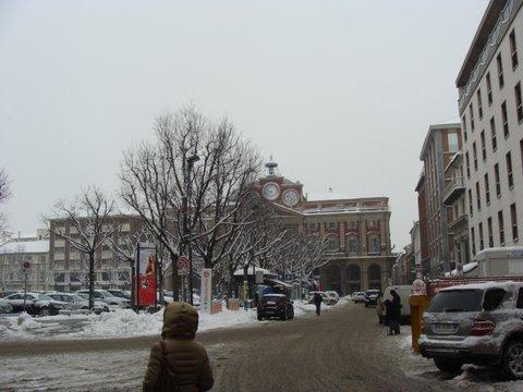 neve, piazza libertà, palazzo rosso, comune, inverno