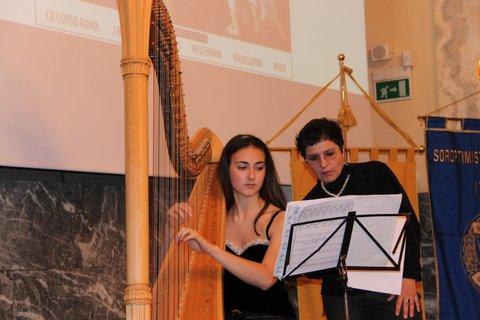 sfilata moda palazzo monferrato arpa musica classica
