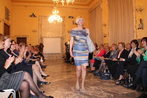 mimma caligaris sfilata moda palazzo monferrato