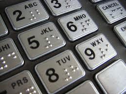 bancomat, tastiera