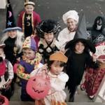halloween, maschere, bambini