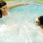 spa, benessere, piscina, coppia, idromassaggio